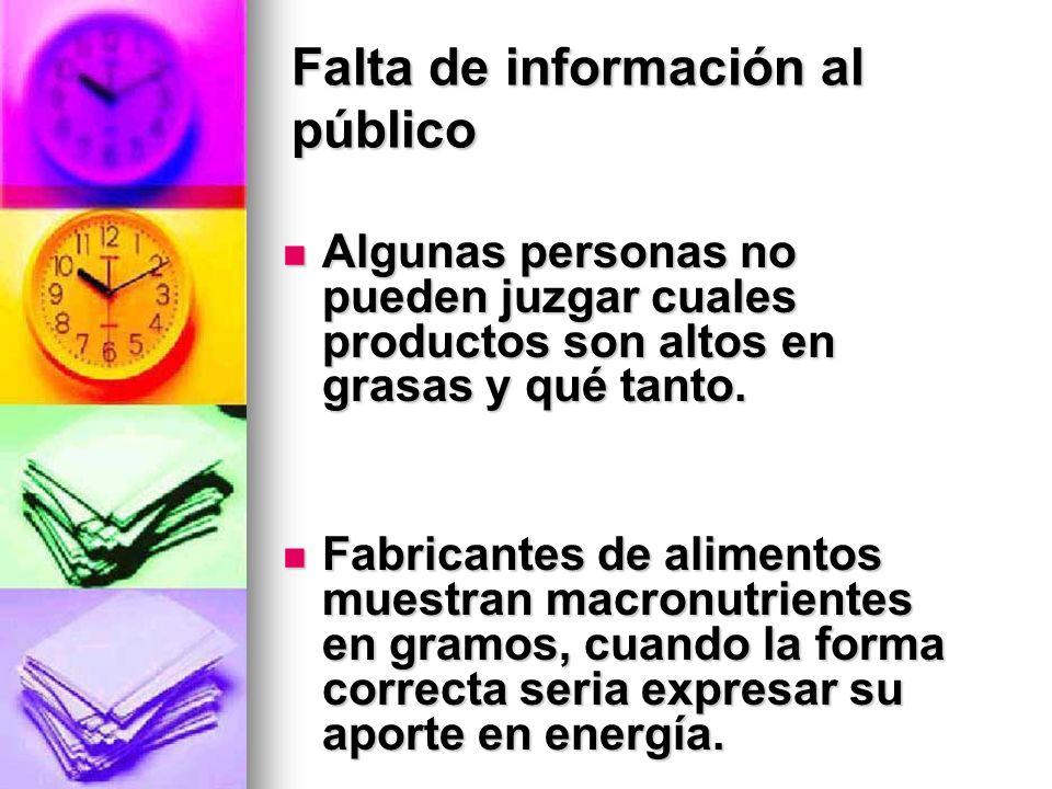 Falta de información al público