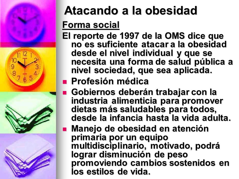 Atacando a la obesidad Forma social Profesión médica