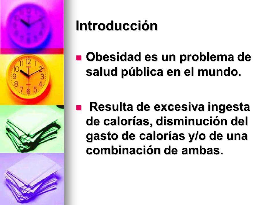 Introducción Obesidad es un problema de salud pública en el mundo.