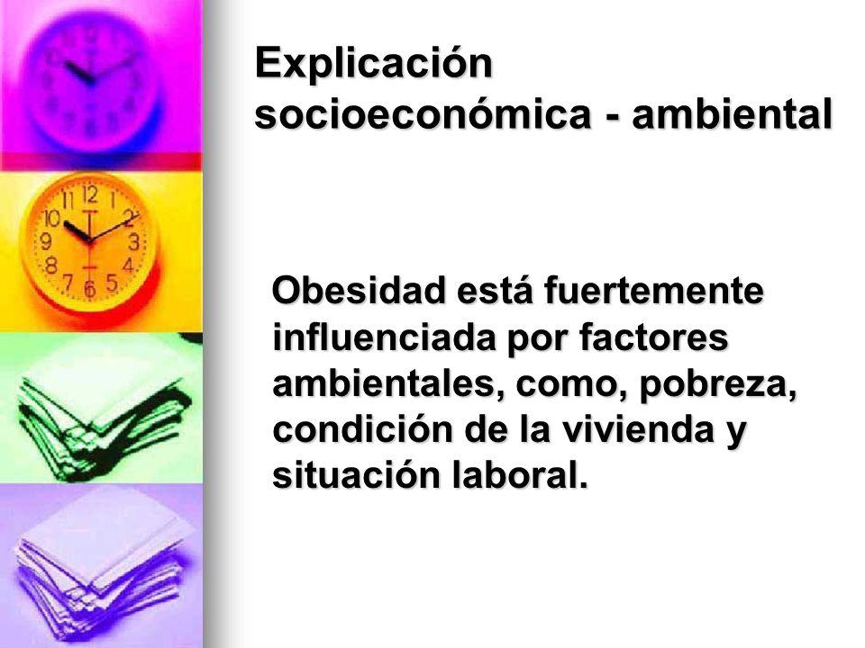 Explicación socioeconómica - ambiental
