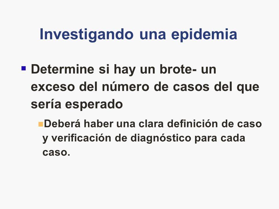 Investigando una epidemia