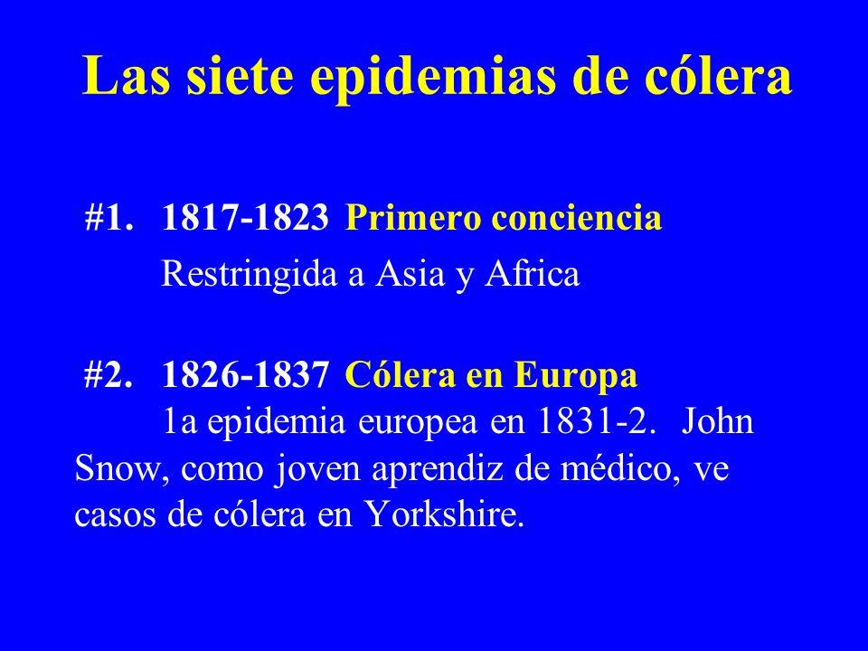 Las siete epidemias de cólera