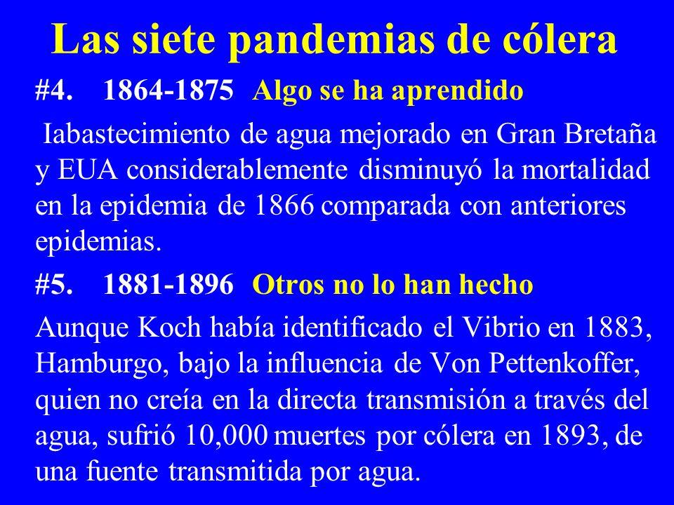 Las siete pandemias de cólera