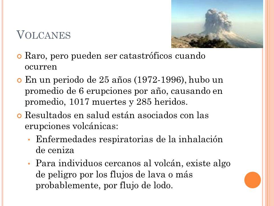 Volcanes Raro, pero pueden ser catastróficos cuando ocurren