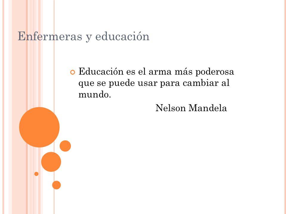 Enfermeras y educación