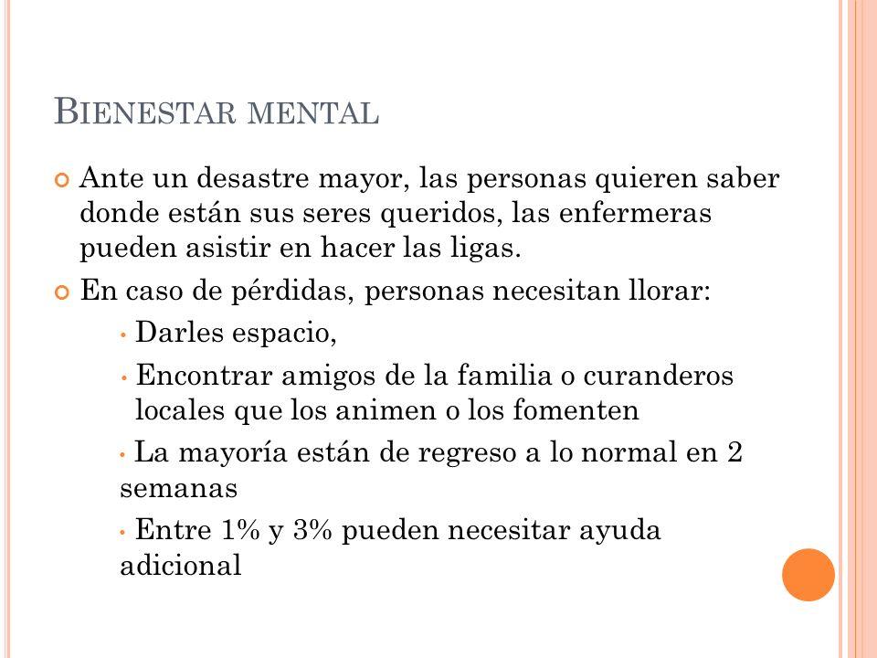 Bienestar mental