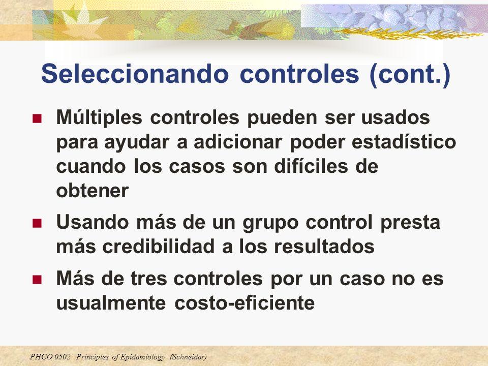 Seleccionando controles (cont.)