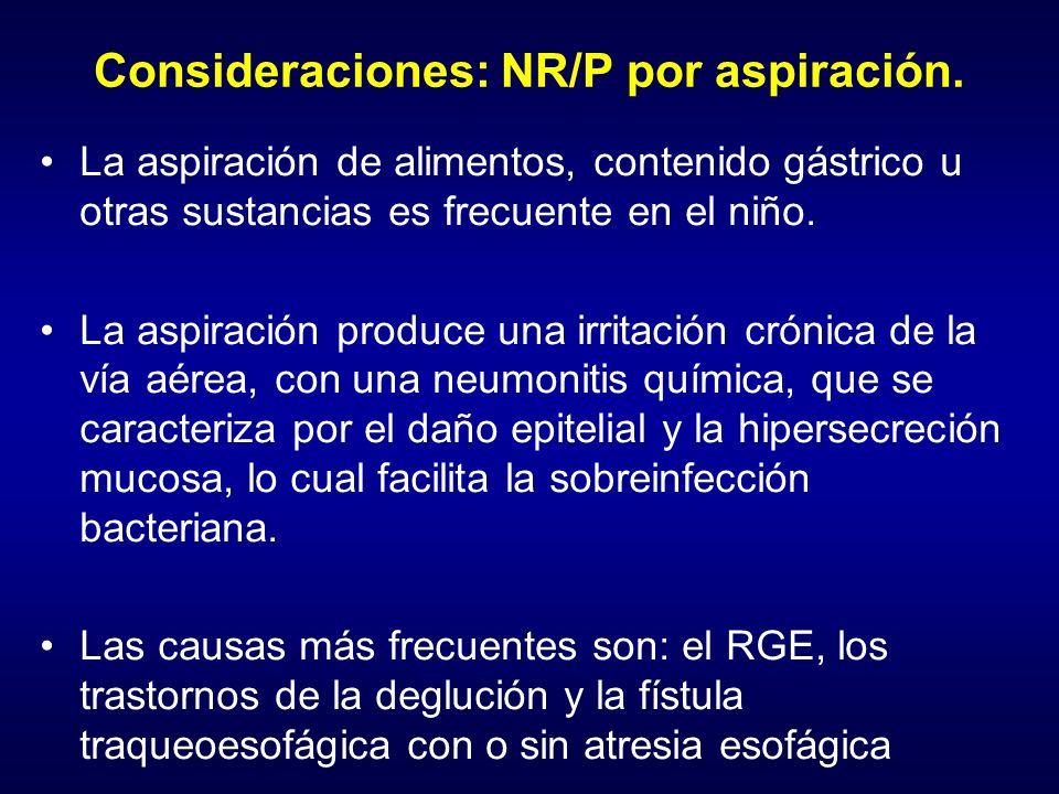 Consideraciones: NR/P por aspiración.
