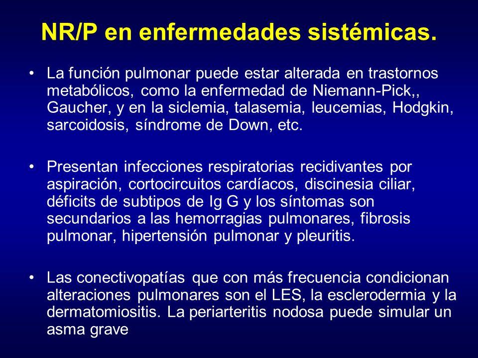 NR/P en enfermedades sistémicas.