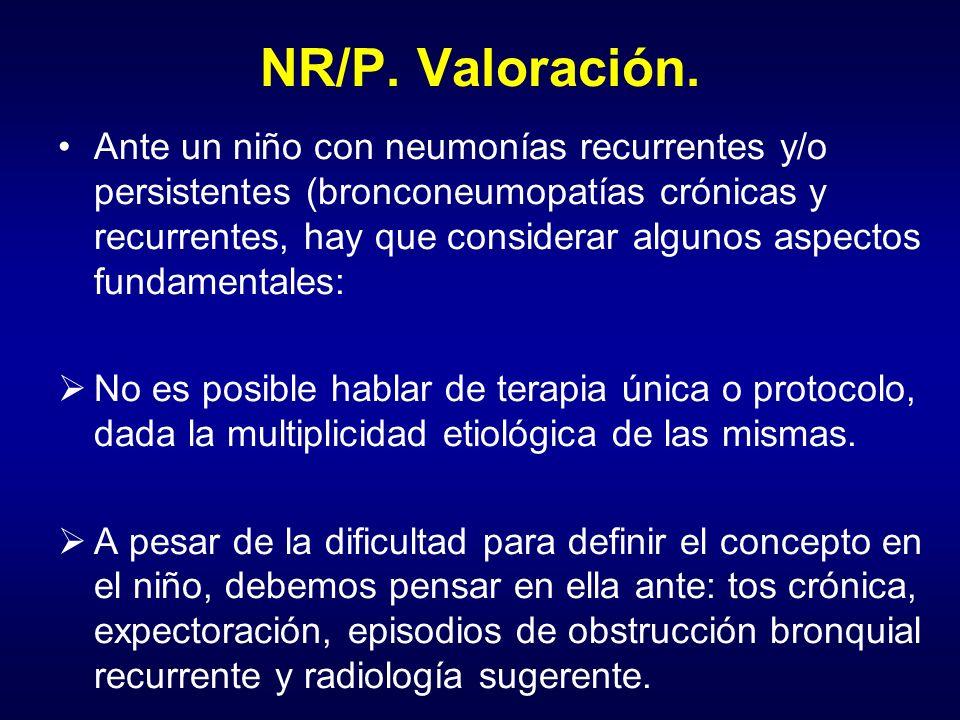 NR/P. Valoración.