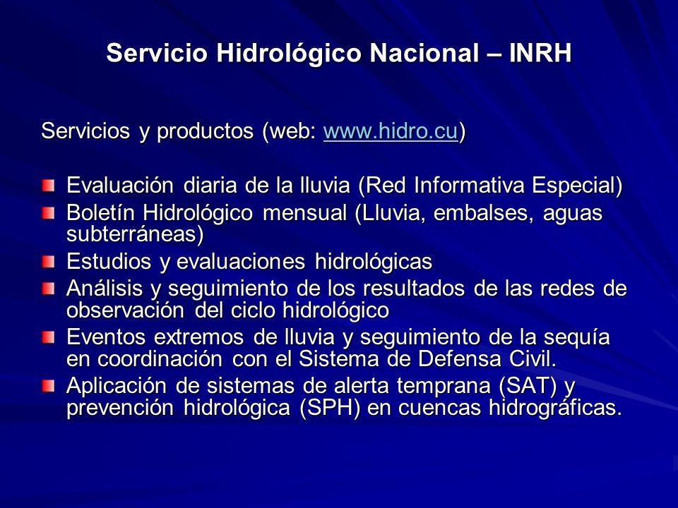 Servicio Hidrológico Nacional – INRH