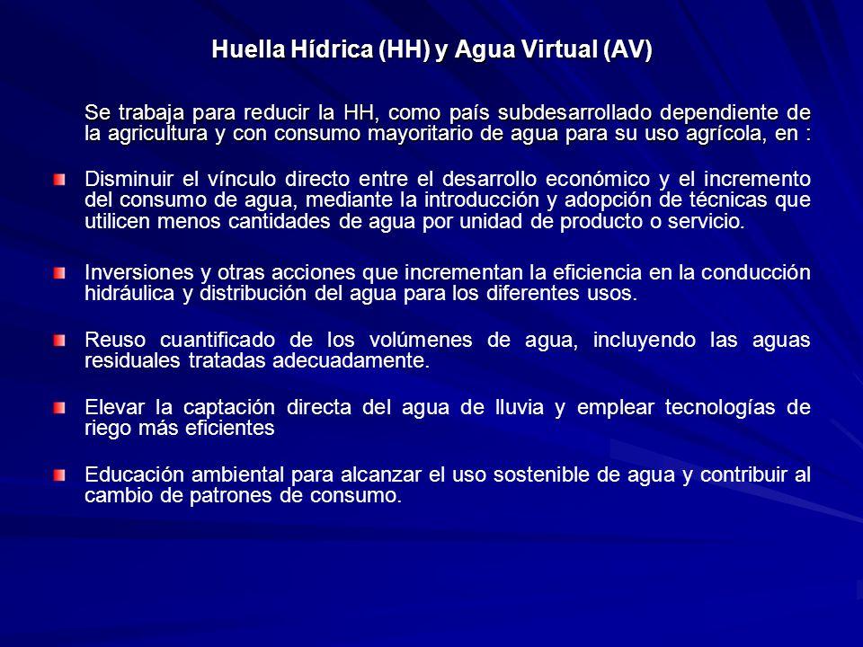 Huella Hídrica (HH) y Agua Virtual (AV)