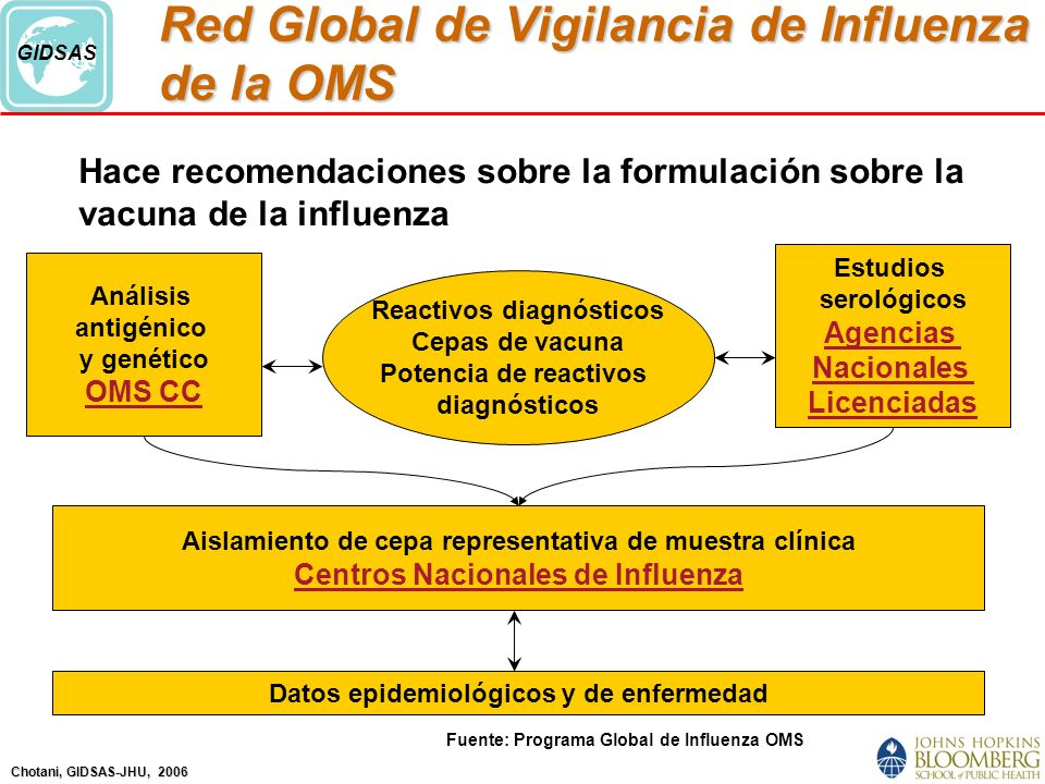 Red Global de Vigilancia de Influenza de la OMS