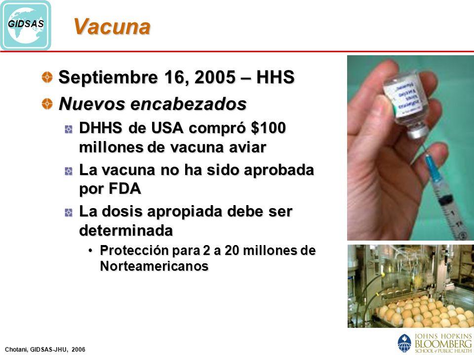 Vacuna Septiembre 16, 2005 – HHS Nuevos encabezados