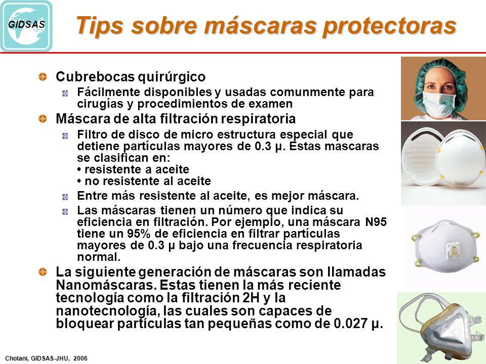 Tips sobre máscaras protectoras
