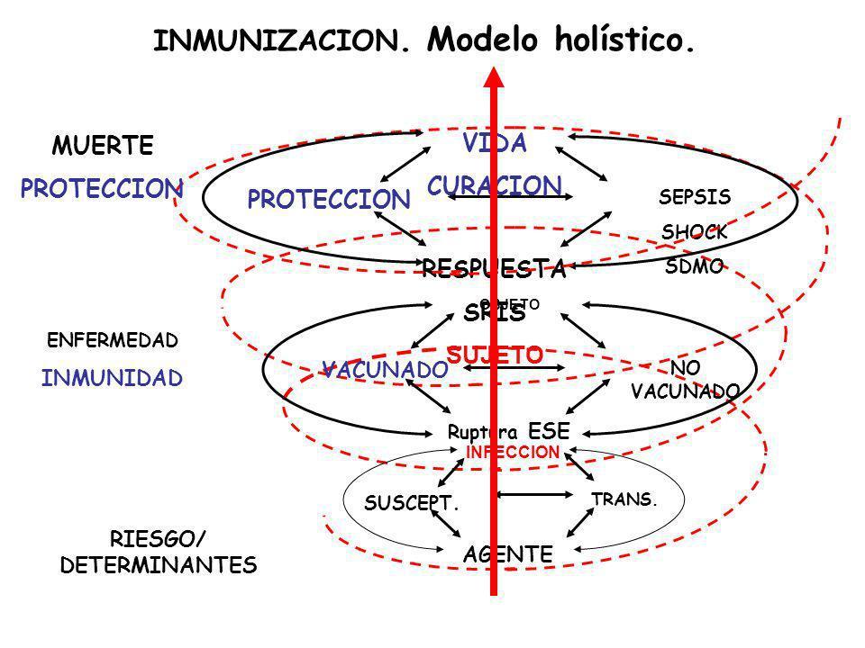 INMUNIZACION. Modelo holístico. RIESGO/ DETERMINANTES