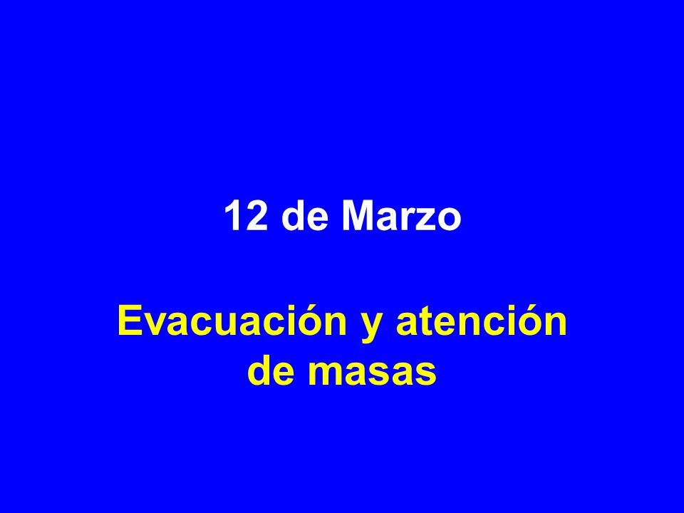 Evacuación y atención de masas