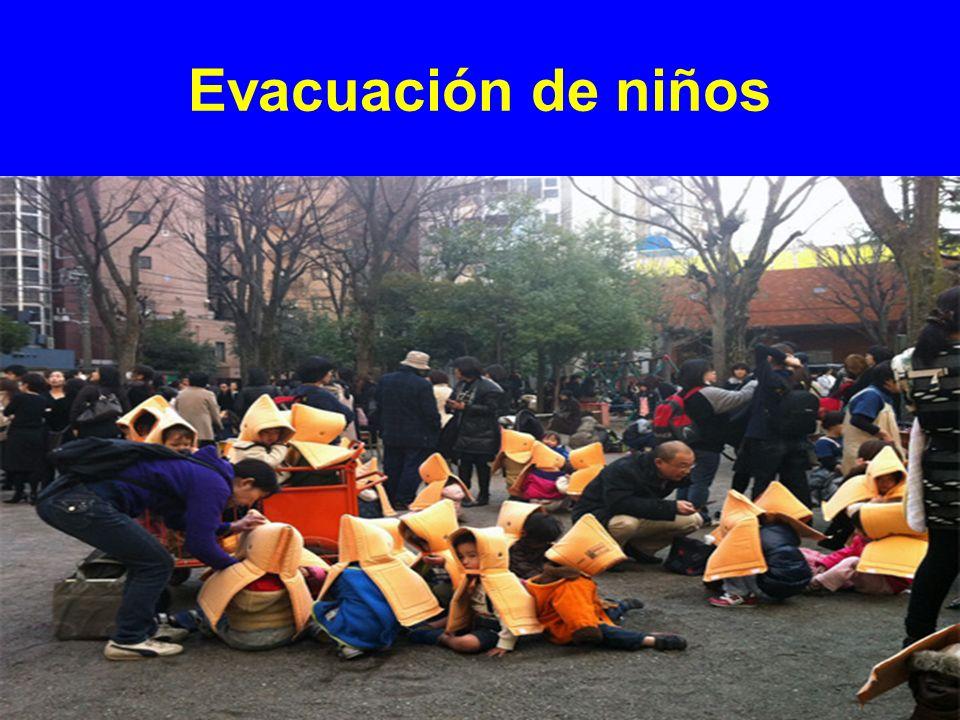 Evacuación de niños