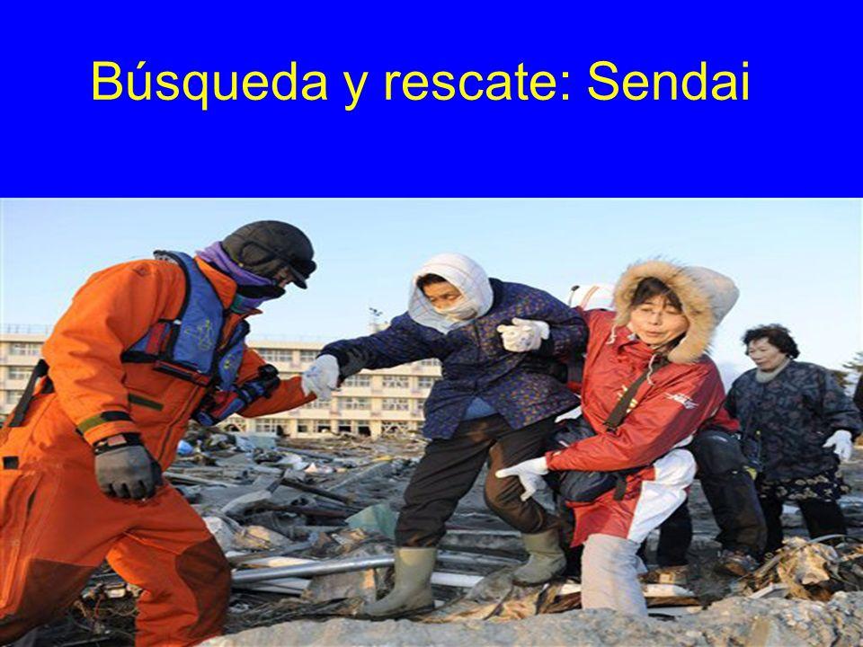 Búsqueda y rescate: Sendai