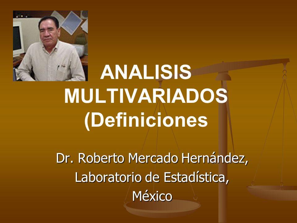 ANALISIS MULTIVARIADOS (Definiciones