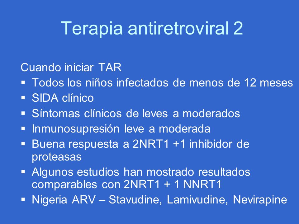 Terapia antiretroviral 2