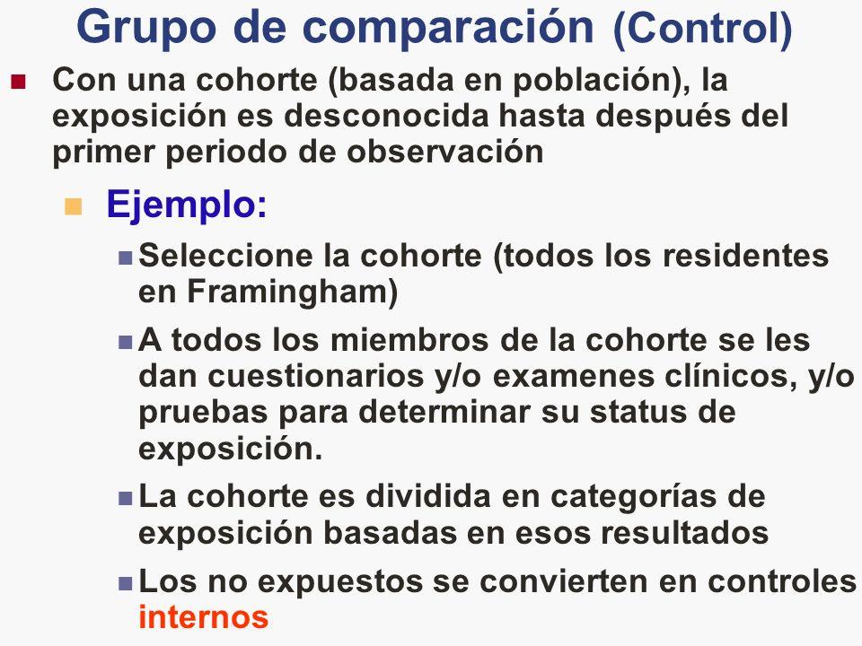 Grupo de comparación (Control)
