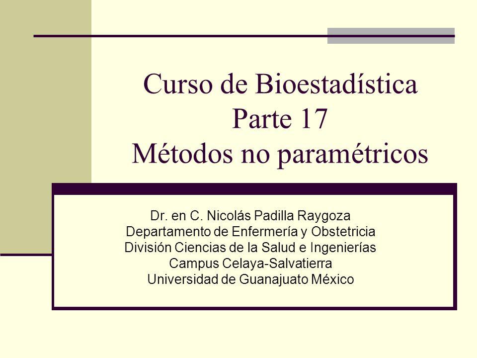 Curso de Bioestadística Parte 17 Métodos no paramétricos