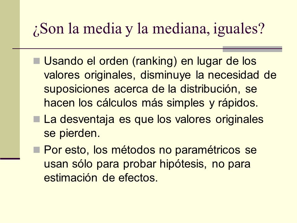 ¿Son la media y la mediana, iguales