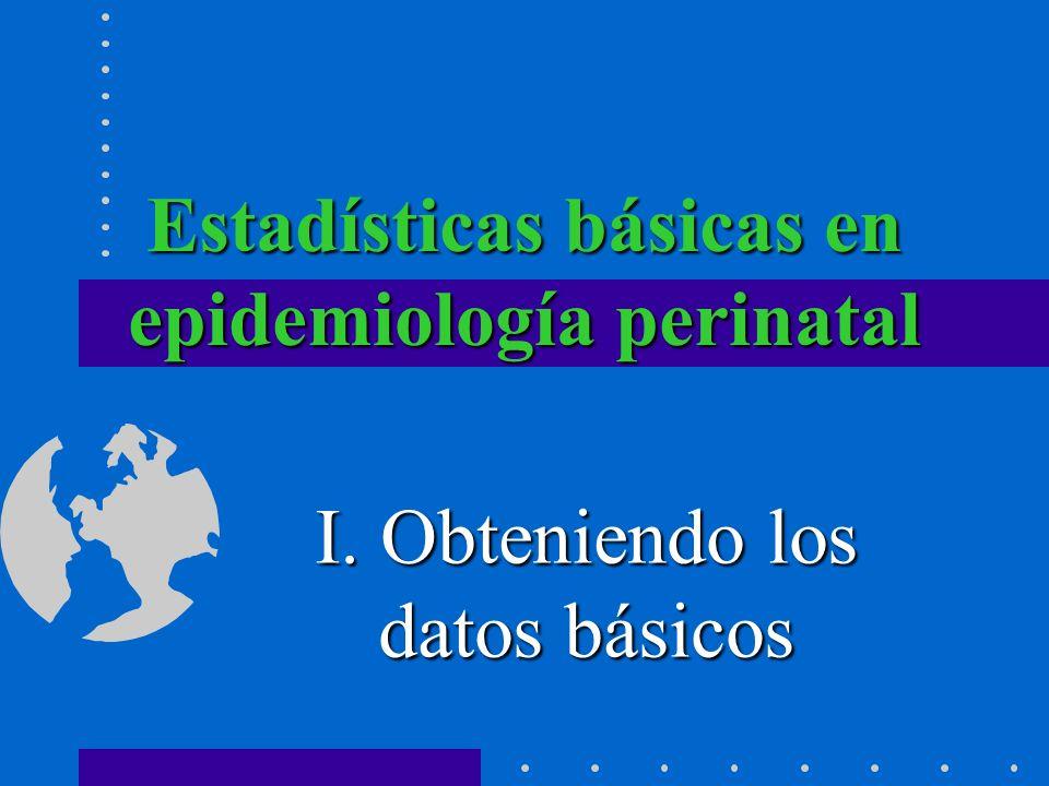 Estadísticas básicas en epidemiología perinatal