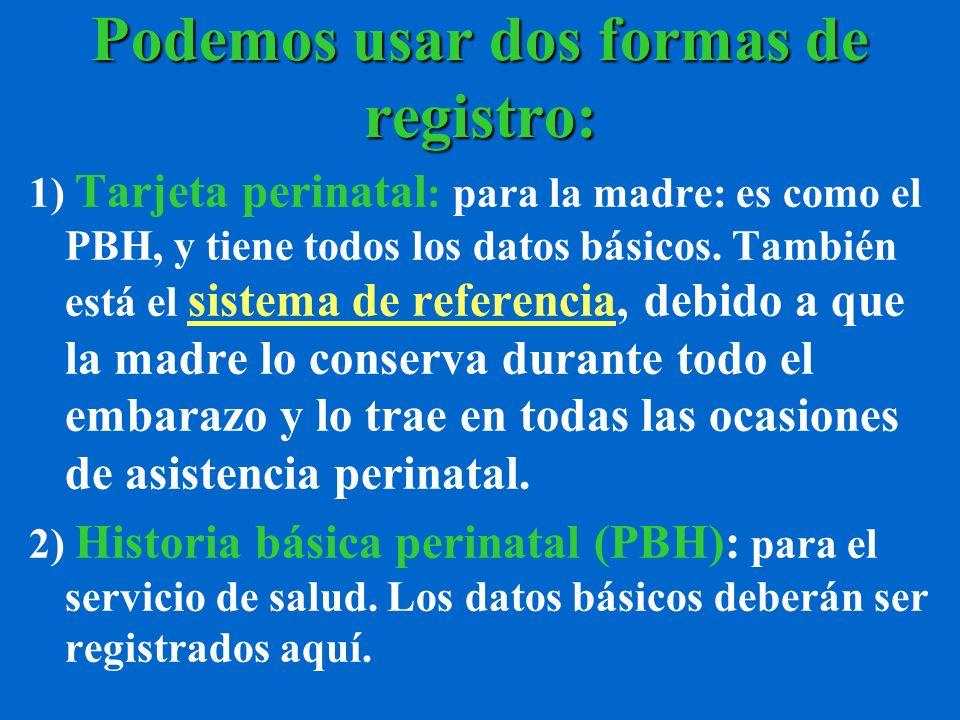 Podemos usar dos formas de registro:
