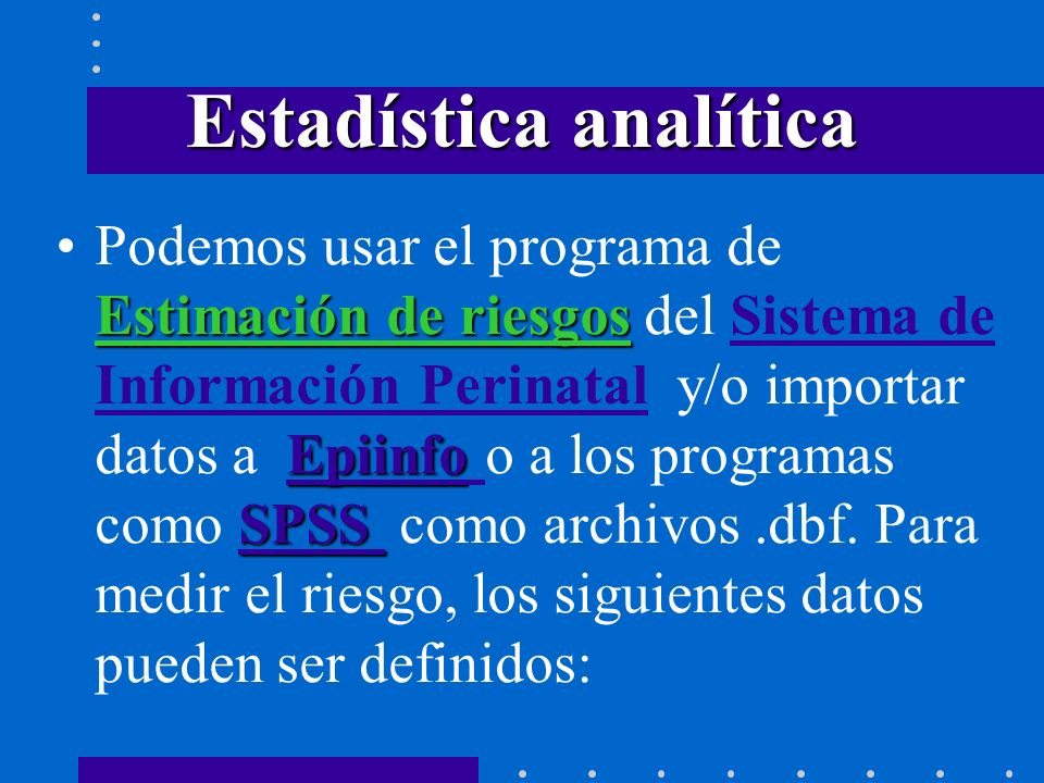 Estadística analítica