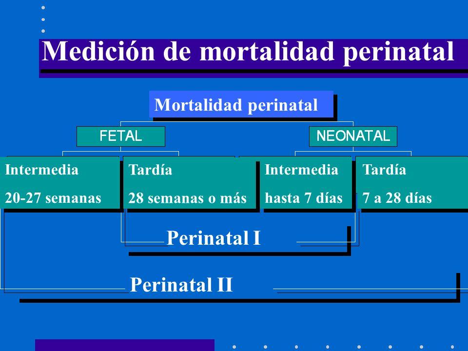 Medición de mortalidad perinatal
