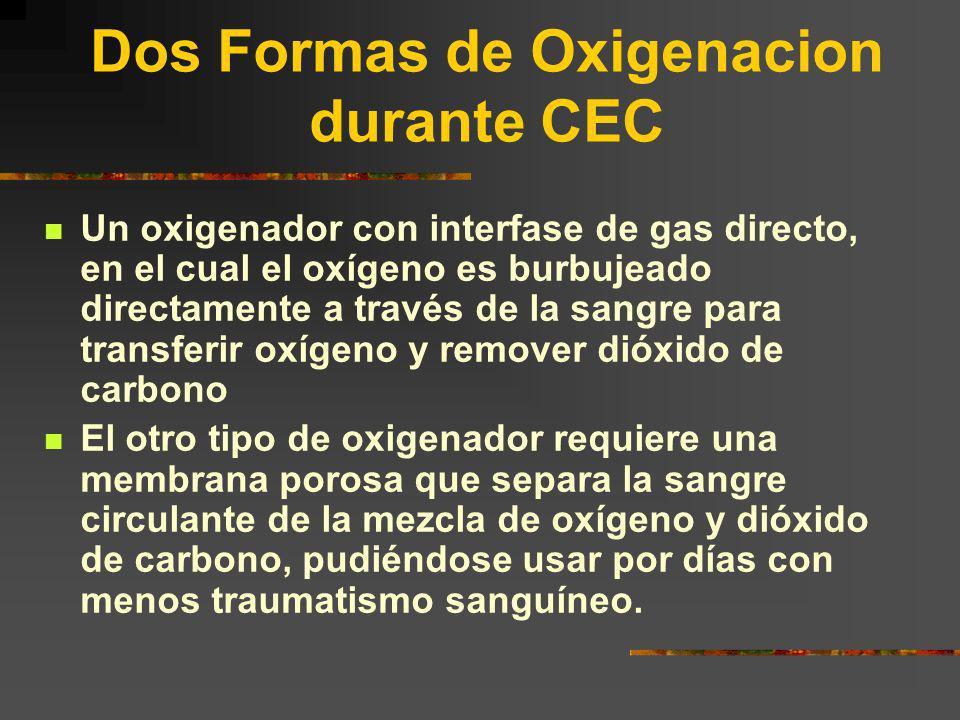 Dos Formas de Oxigenacion durante CEC