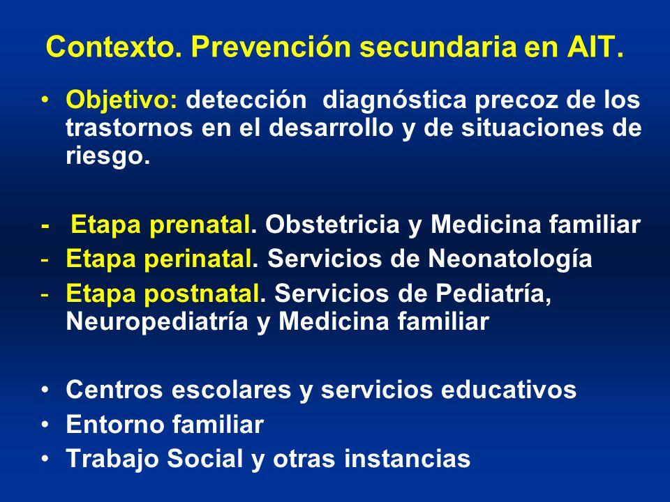 Contexto. Prevención secundaria en AIT.