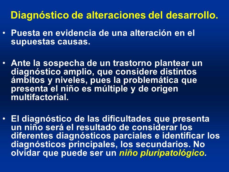 Diagnóstico de alteraciones del desarrollo.