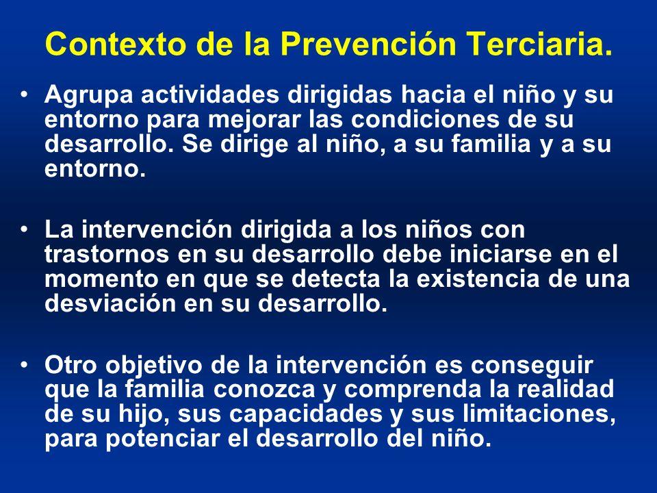 Contexto de la Prevención Terciaria.