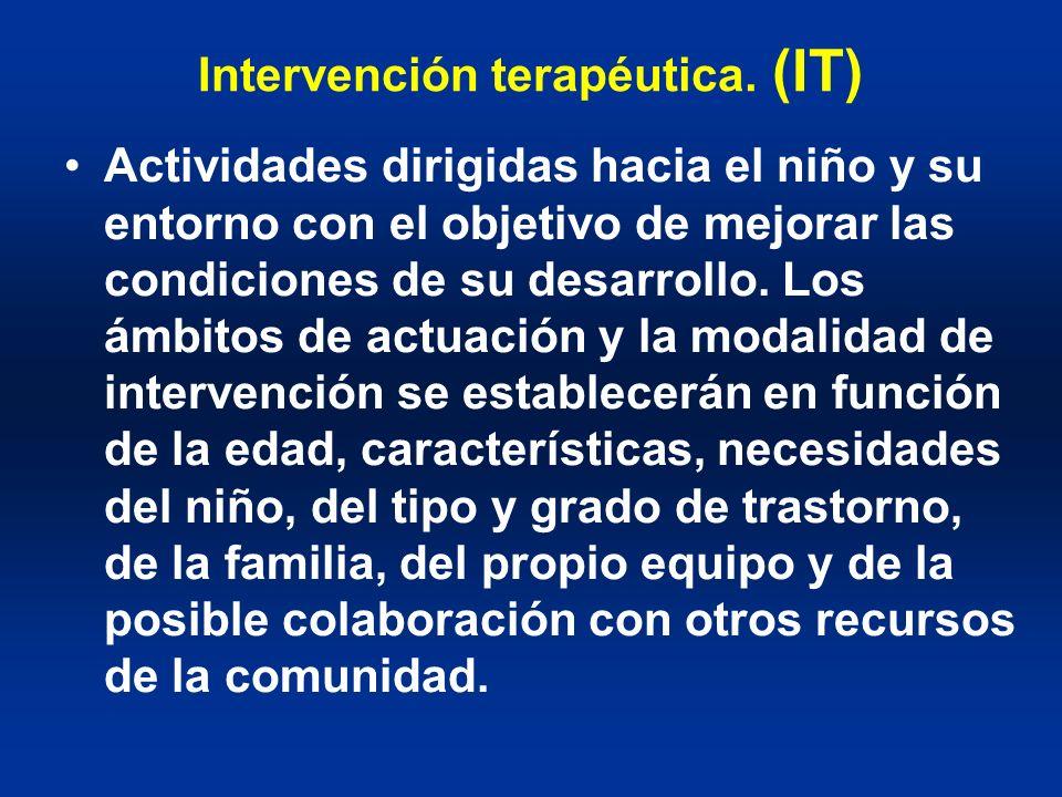 Intervención terapéutica. (IT)