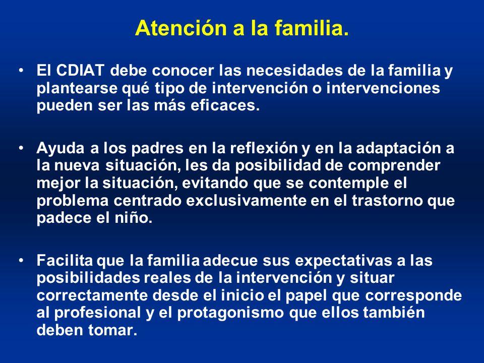 Atención a la familia.