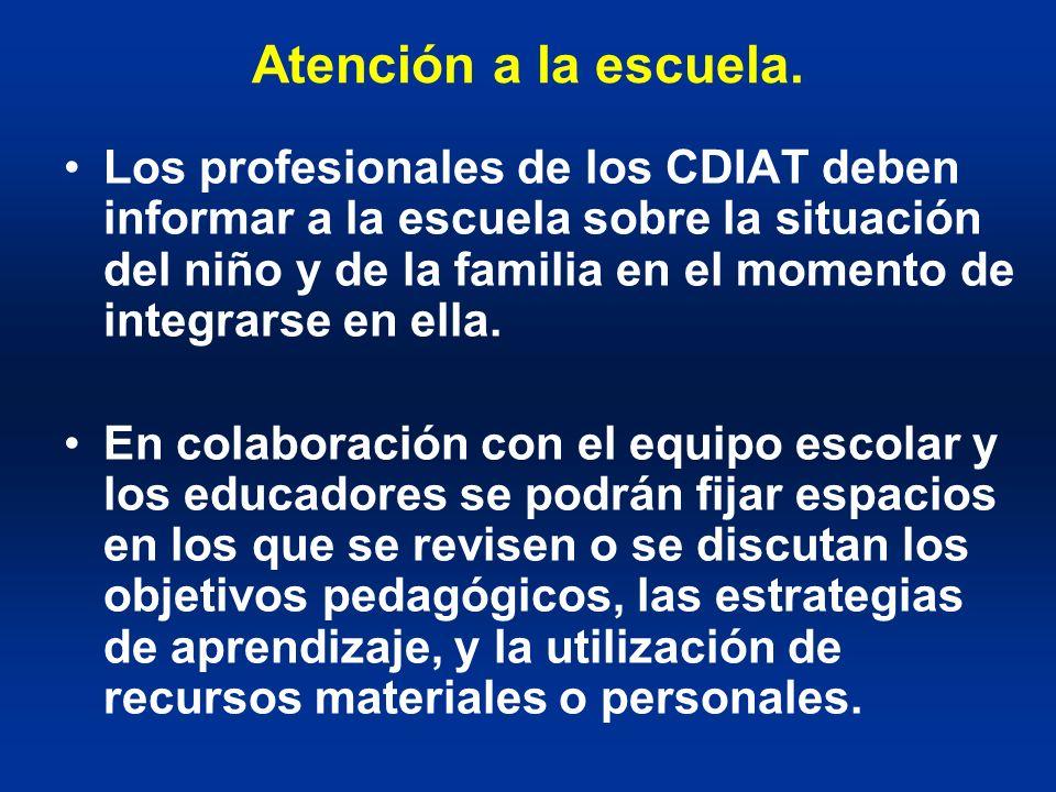 Atención a la escuela.