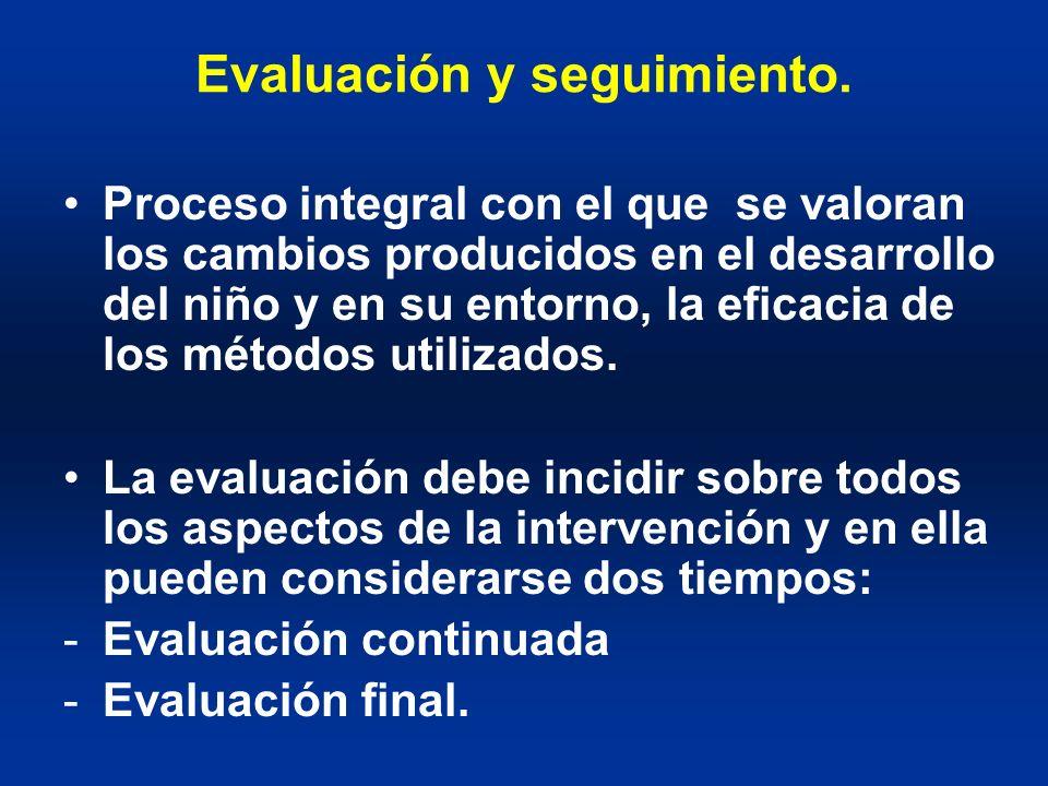 Evaluación y seguimiento.