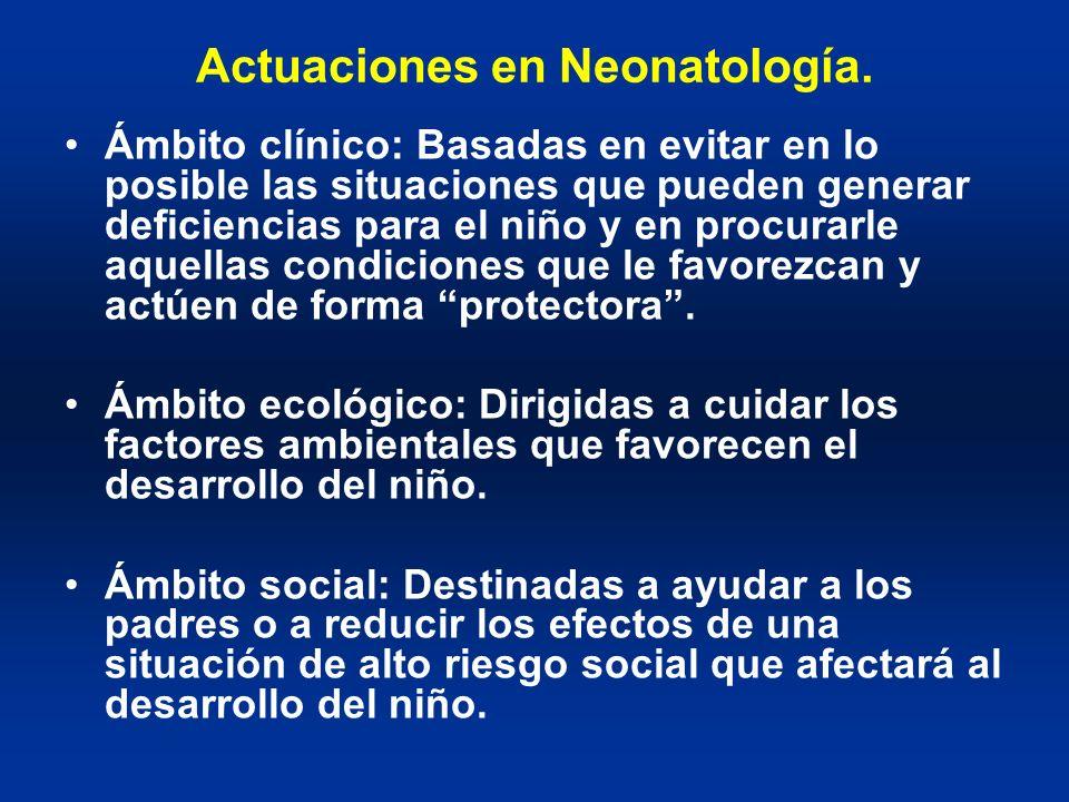 Actuaciones en Neonatología.