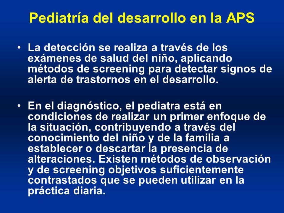 Pediatría del desarrollo en la APS