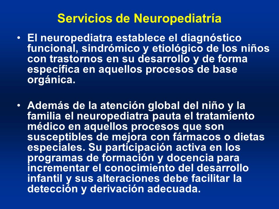 Servicios de Neuropediatría