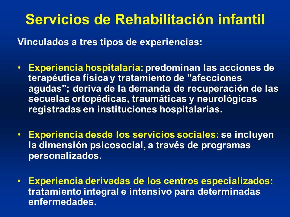 Servicios de Rehabilitación infantil