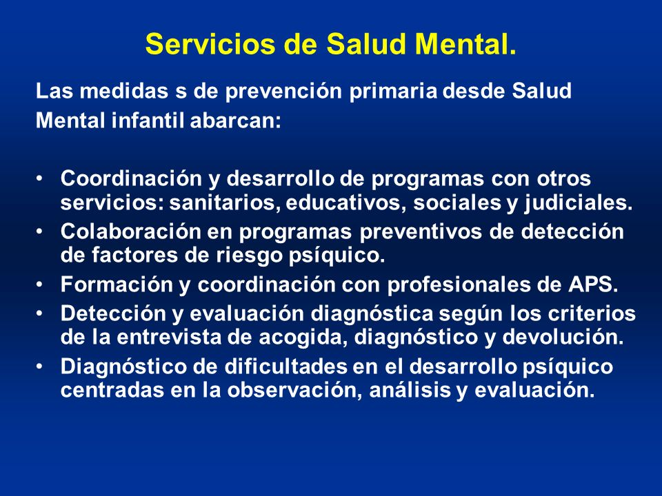 Servicios de Salud Mental.