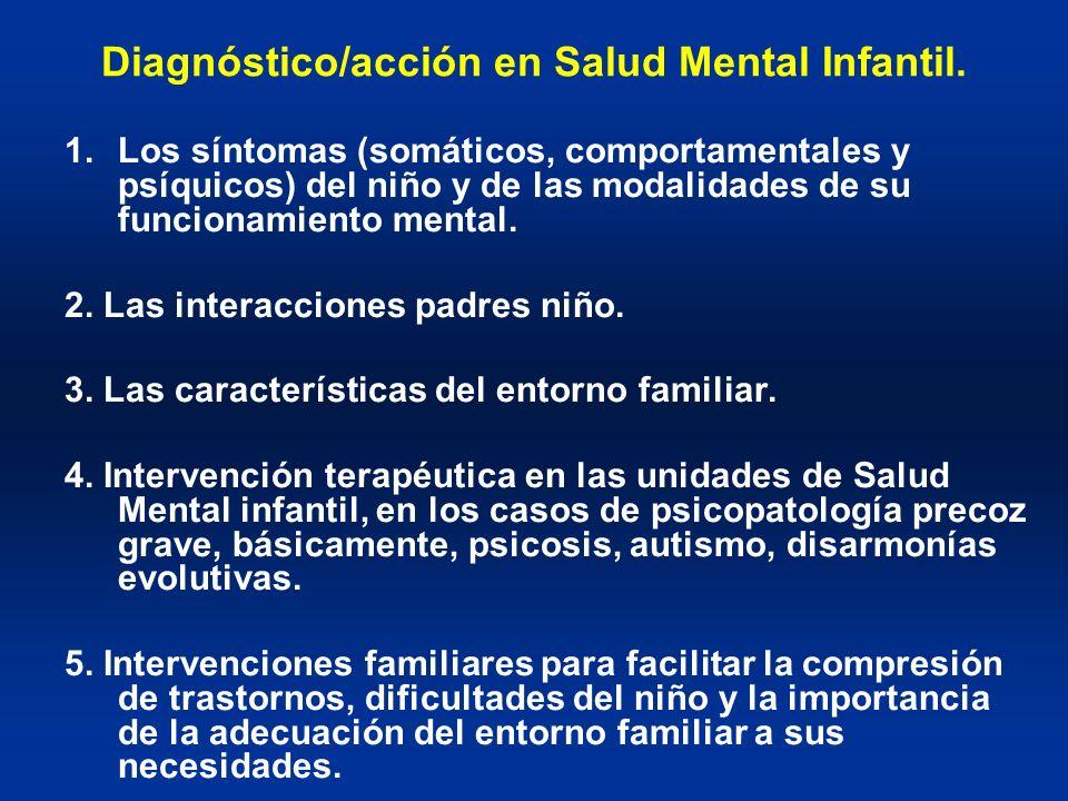 Diagnóstico/acción en Salud Mental Infantil.
