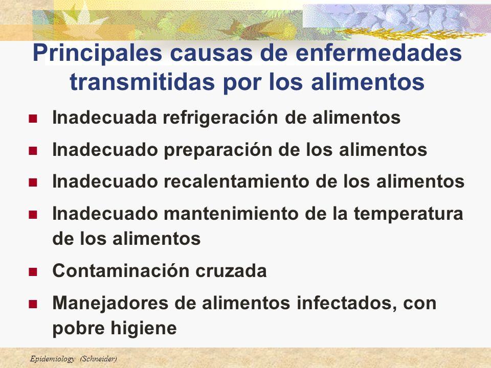 Principales causas de enfermedades transmitidas por los alimentos