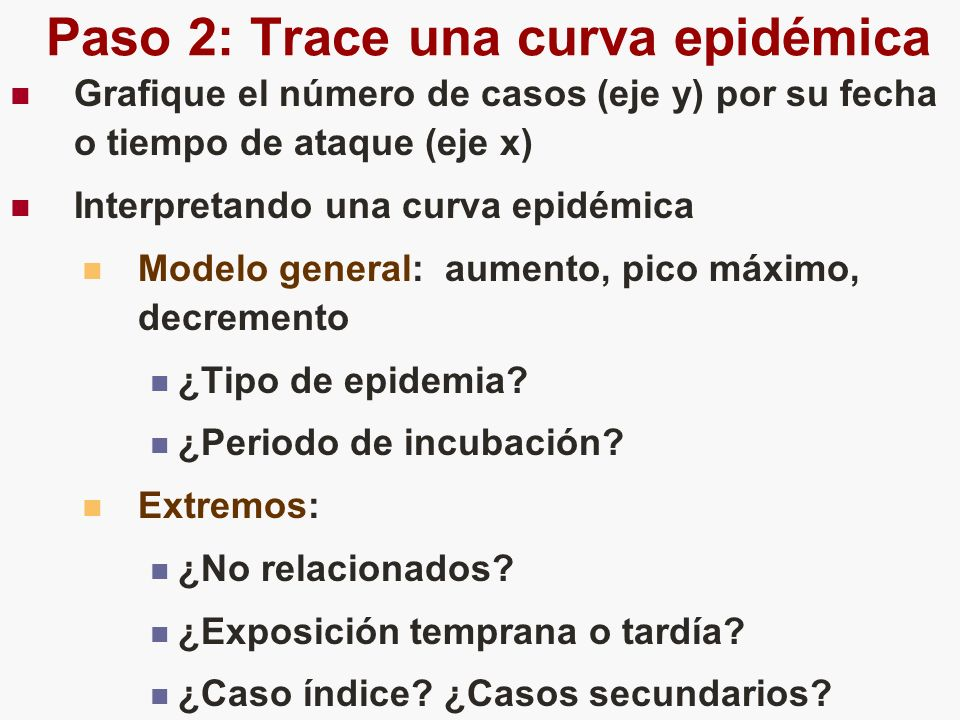 Paso 2: Trace una curva epidémica