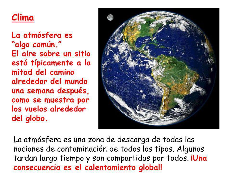 Clima La atmósfera es algo común.