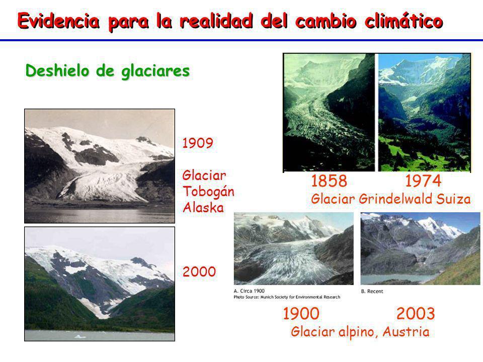 Evidencia para la realidad del cambio climático